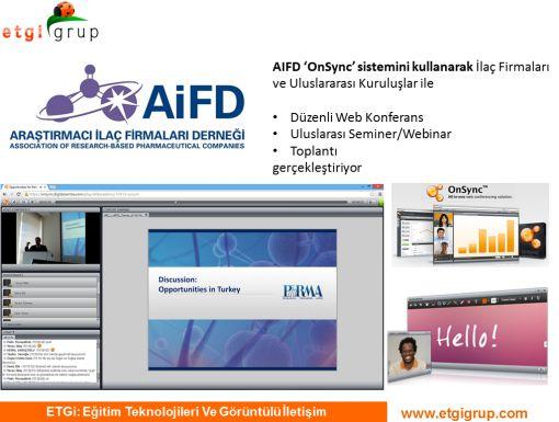 AIFD OnSync ile ilk online seminerini gerçekleştirdi.